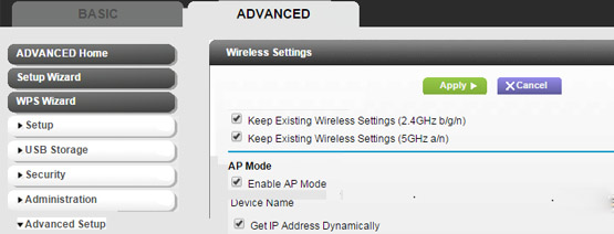 Advanced Settings of Router