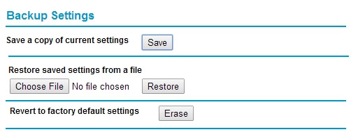 Resetting using the setup wizard